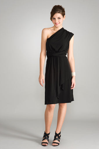 Maternalove Signature Convertible Maternity & Nursing Dress - Black