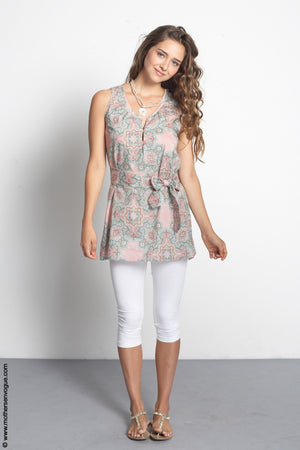 Mothers En Vogue Summerlight Paisley Pink Tunic