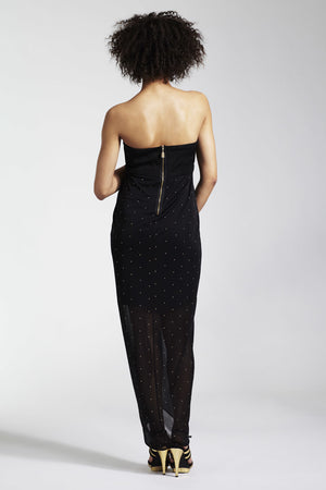 Rock a Bye Rosie Lexia Black Bandeau Maxi Maternity Dress