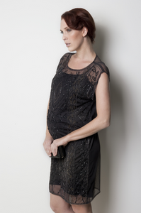 Ripe_Maternity_Black_Beaded_Tunic_Dress