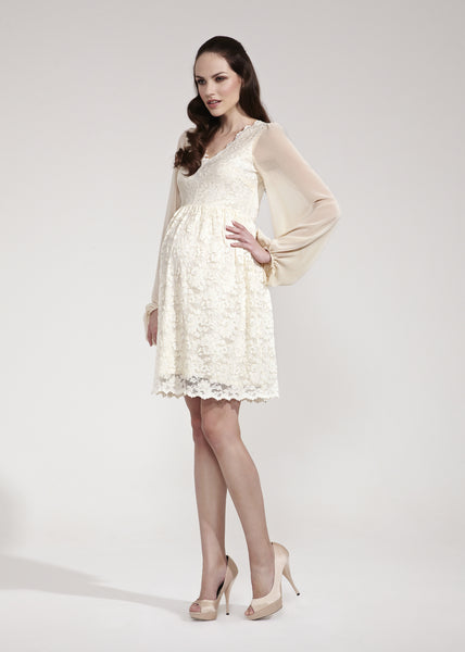 Rock A Bye Rosie Tallulah Lace Maternity Dress White