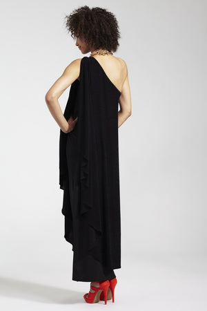Rock a Bye Rosie Black Chiffon Whitney Maternity Dress