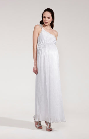 Rock-a-Bye Rosie Catherine One Shoulder Shimmer Maxi Dress