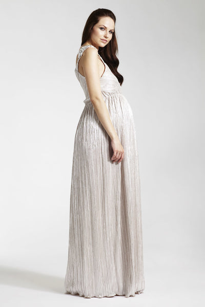 Rock-a-Bye Rosie Gabrielle Grecian One Shoulder Maxi Dress