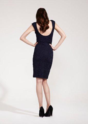 Rock-a-Bye Rosie Leah Navy Lace Maternity Dress