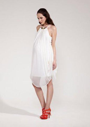 Rock-a-Bye Rosie Amelia Jewel Trim Dress White