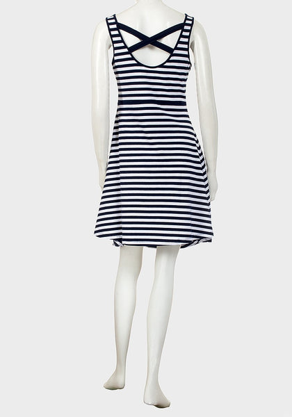 Blue & White Stripe Cotton Sundress