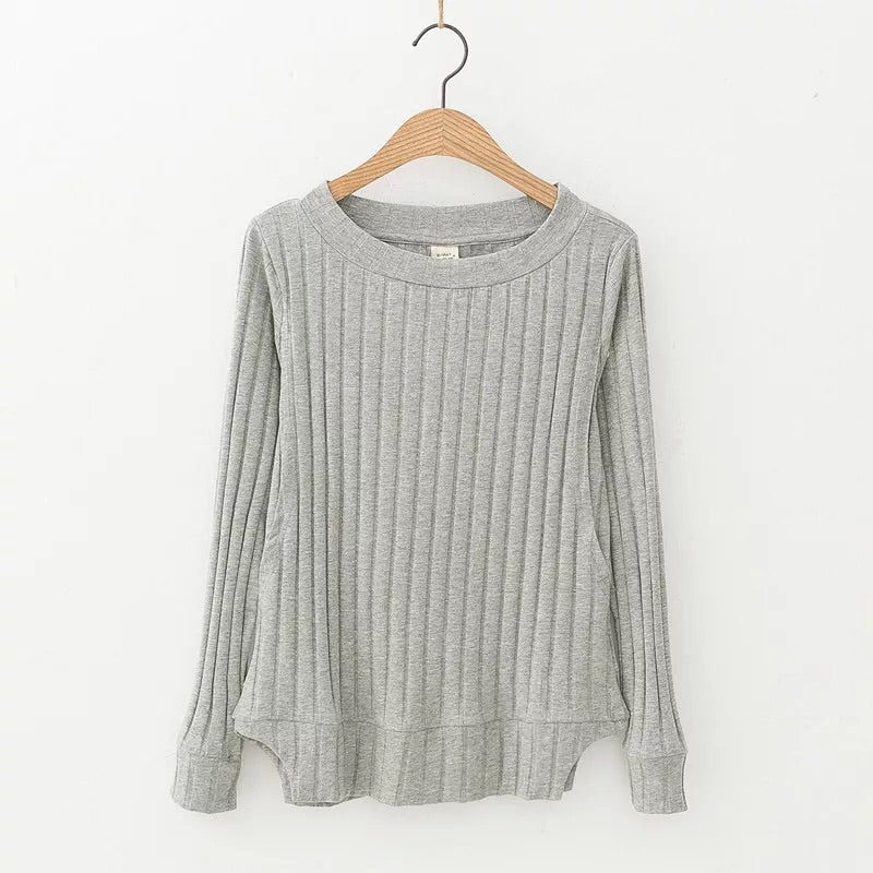 Organic Cotton Ribbed Nursing Jumper