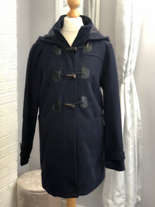 Fashionably Pregnant Maternity Duffle Coat - Navy Blue