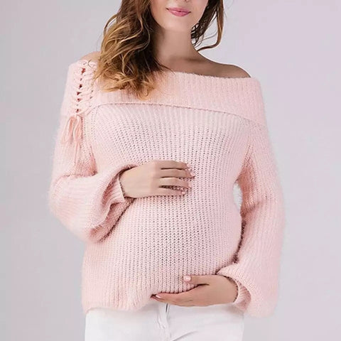 Off the Shoulder Oversized Knitted Jumper