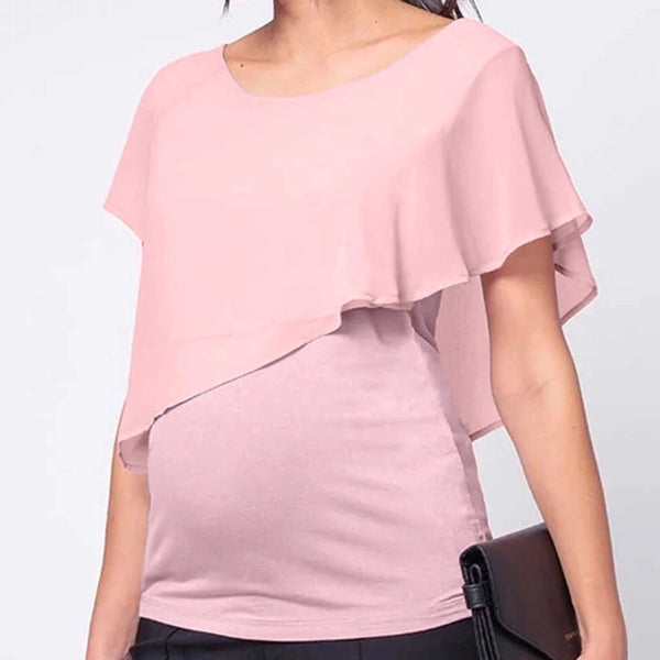 Maternity & Nursing Asymmetric Top