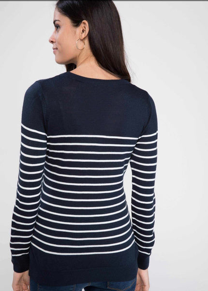Striped Slim Fit Maternity Sweater