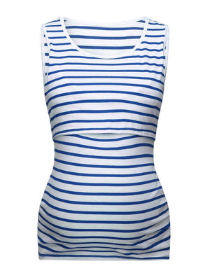 Nursing Stripe Vest Top