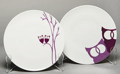 Dessert Plates - Owls - set of four