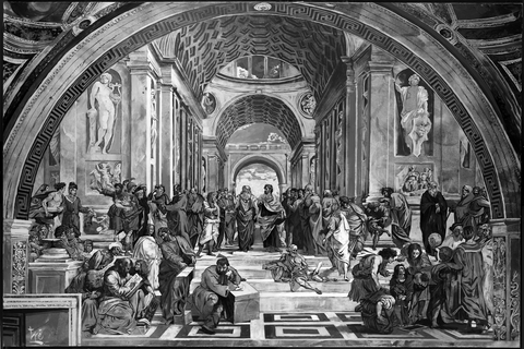 School of Athens - Black and White Variant