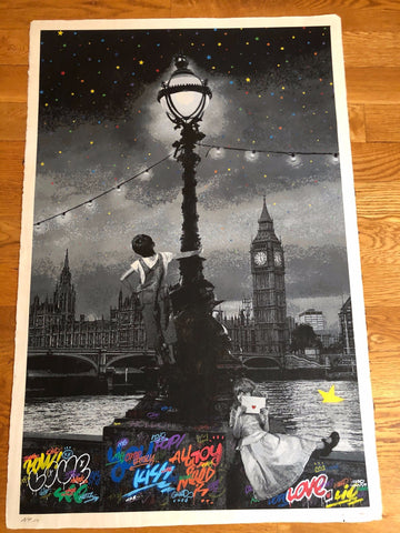 London - Hon Mino Washi Monochrome Edition Artist Proof 1/3