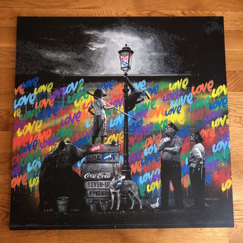 Midnight Mission - Rainbow Edition Canvas