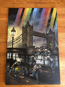 Rainbow Inc. Tower Bridge - Glitter Canvas Artist Proof
