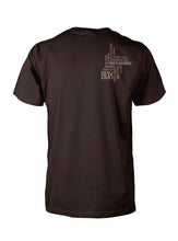 Load image into Gallery viewer, BDX Bordeaux DK Chocolate in Brown Print with Brown back print of Neighborhoods