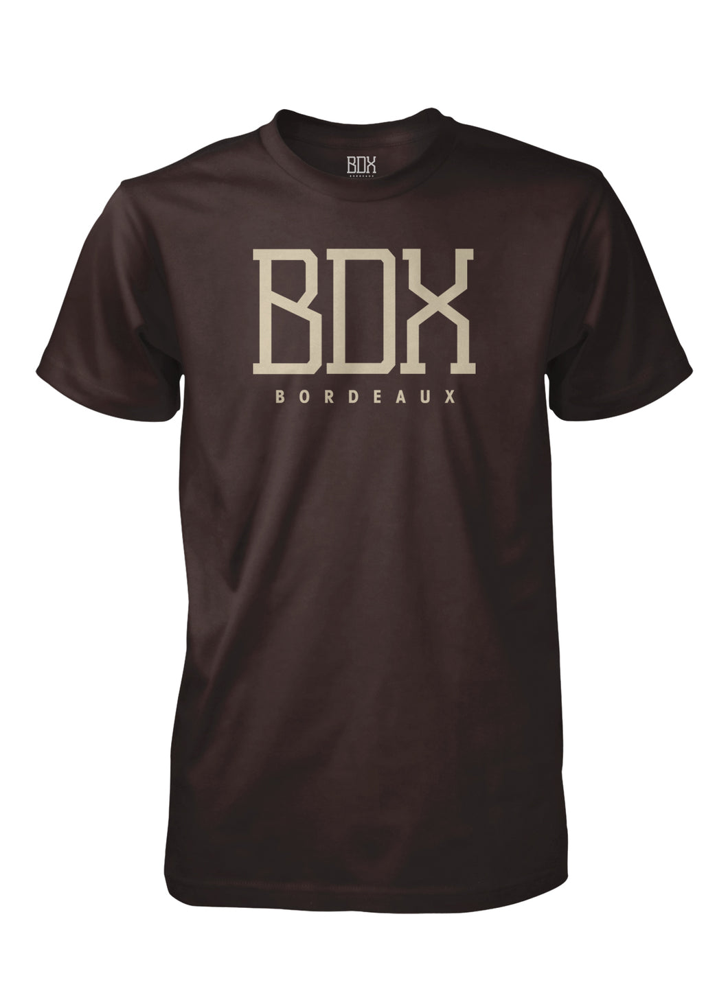 BDX Bordeaux DK Chocolate in Brown Print with Brown back print of Neighborhoods
