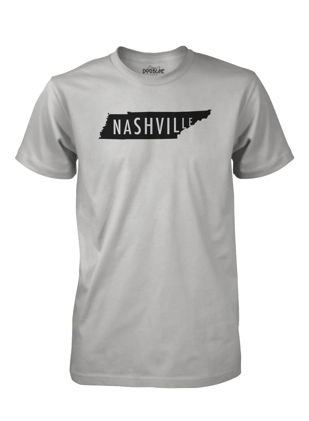 Nashville in LT Gray with Black print
