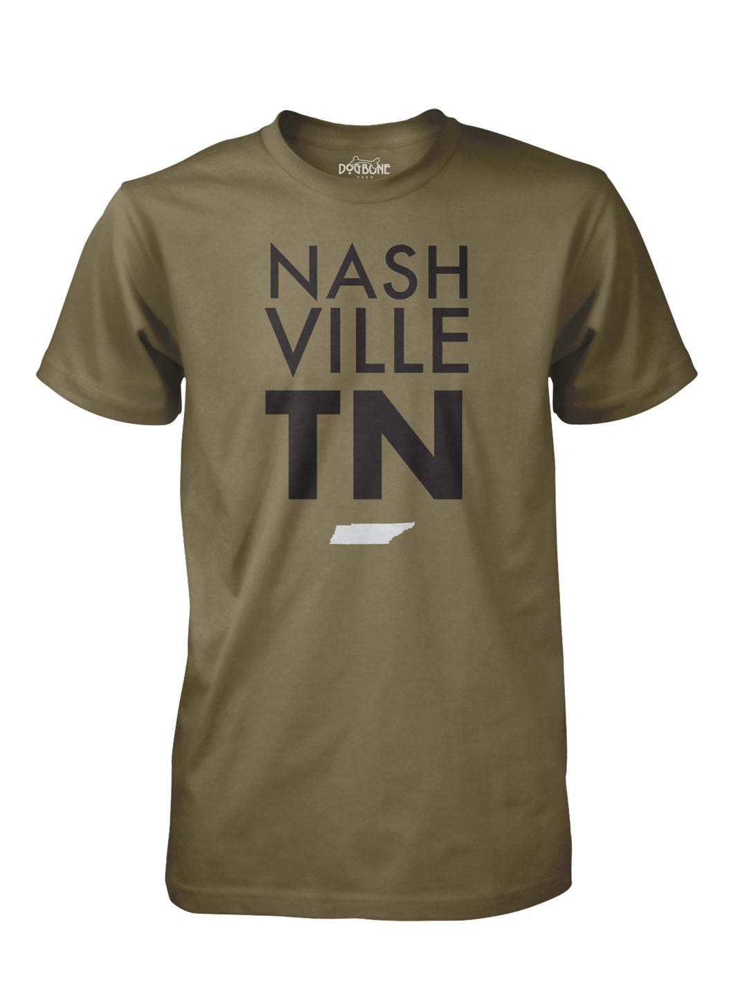 Nashville Stacked Military Green