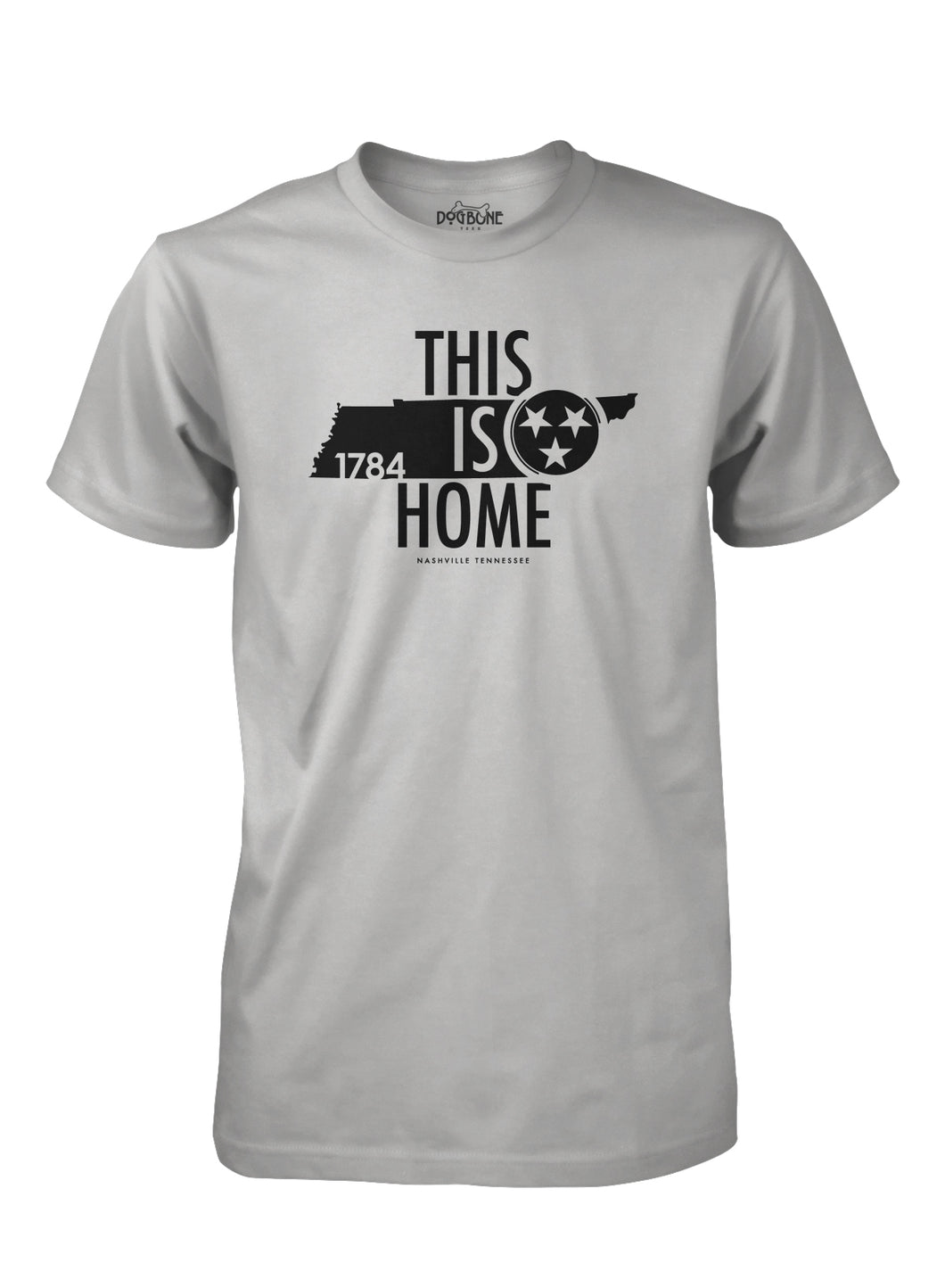 This Is Home in LT Gray with Black print