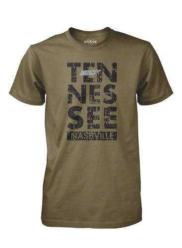 Tennessee Stacked Military Green
