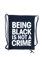 Load image into Gallery viewer, Being Black Is Not A Crime Cotton Canvas Drawstring Bag