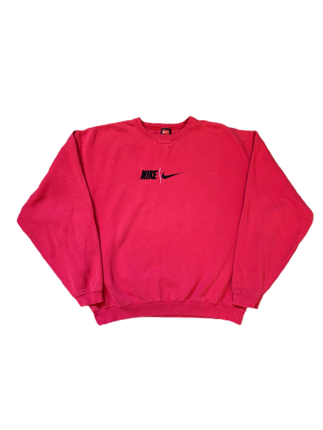 Nike Center Swoosh W/ Spell Out Crewneck Jumper Y2k (XL)
