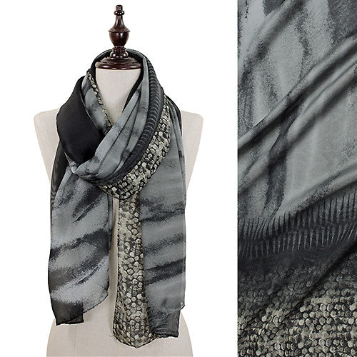 Abstract Snake Pattern Scarf