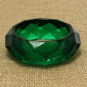 Thick Bangle - Green