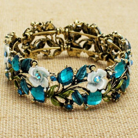 Antique Rose Bracelet - Blue