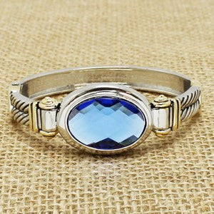 Center Jewel Bracelet - Blue