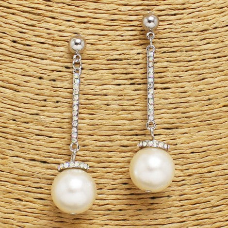 Pearl Rhinestone Earrings