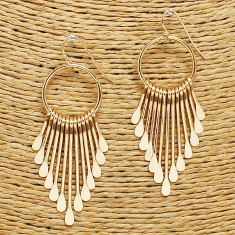 Circle Keys Earring - Gold