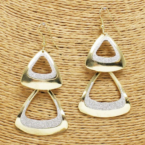 Dual Triangle Earrings II