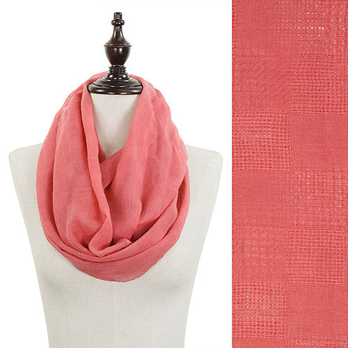 Solid Color Infinity Scarf - Coral