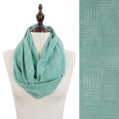 Solid Color Infinity Scarf - Mint