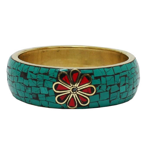 Crackled Flower Bracelet