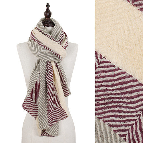 Patterned Soft Acrylic Scarf