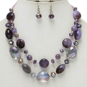 Purple Glory Necklace Set