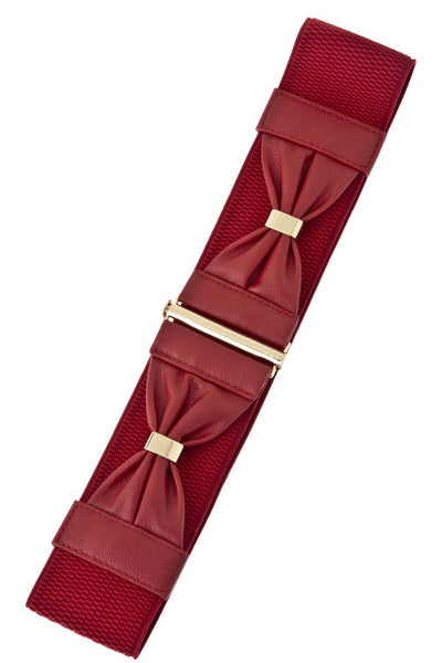 Double Bow Belt (Brown, Dk Brown, Red)