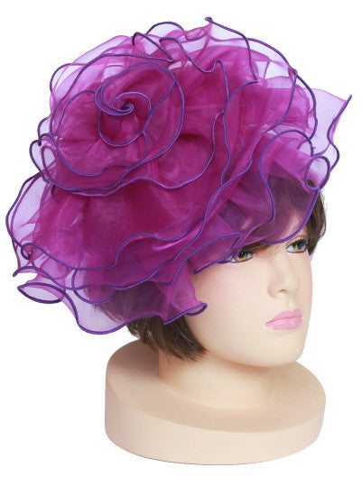 Fluffy Fascinator Hat (Available in Purple and White)