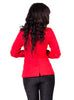 Gold Tab Blazer - Red