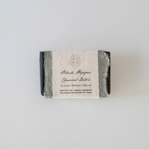 Activated Bamboo Charcoal Detox Soap - Vegan, Palm oil free