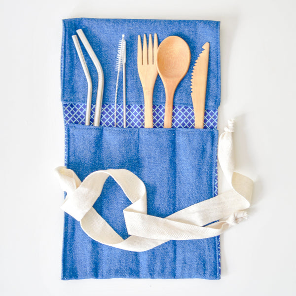 Reclaimed Cloth Multi-utensil Wrap