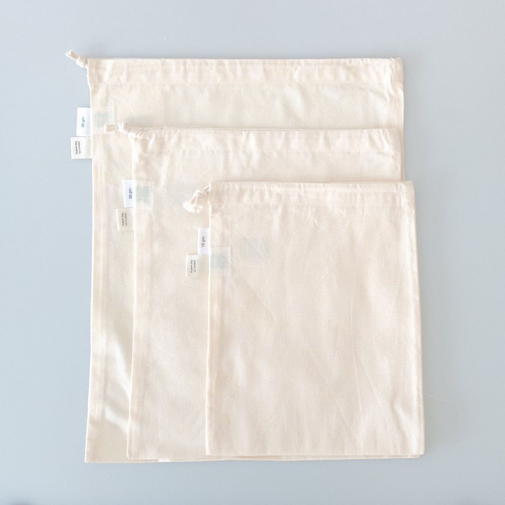 Organic Cotton Produce Bags - Variety Pack