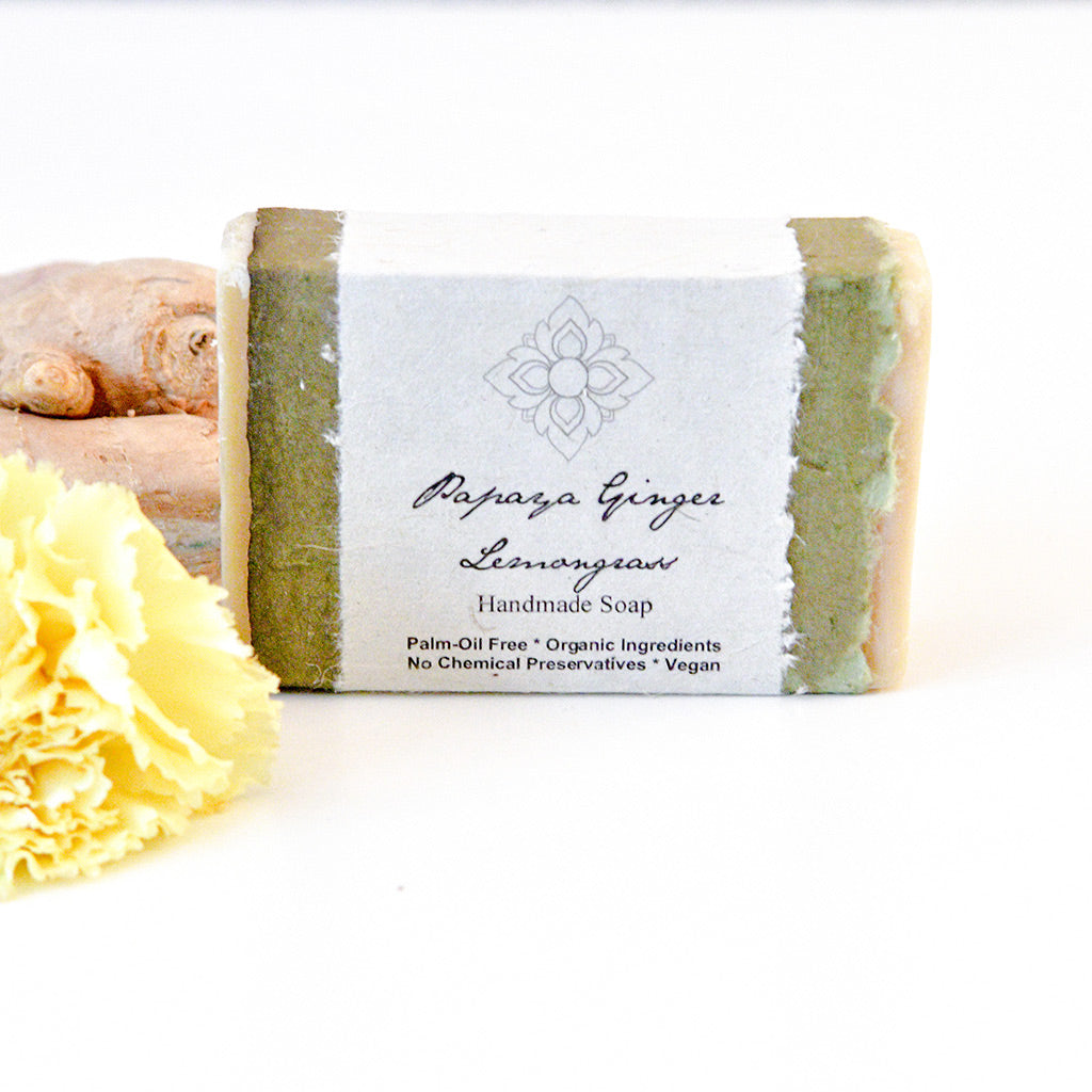 Papaya Ginger Lemongrass soap - Palm oil free