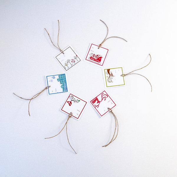 Plantable Seeded Paper Holiday Gift Tags - 6 Tag Variety Pack